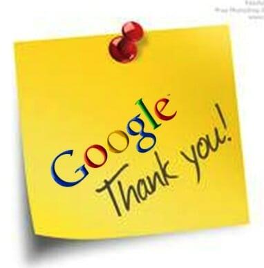 Google thank you